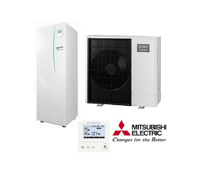 Mitsubishi 8 5 Kw Ecodan Monobloc Heat Pump C  W 200 Litre